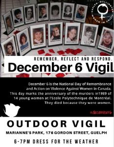National Day of Remembrance and Action on Violence Against Women @ Marianne's Park | Guelph | Ontario | Canada